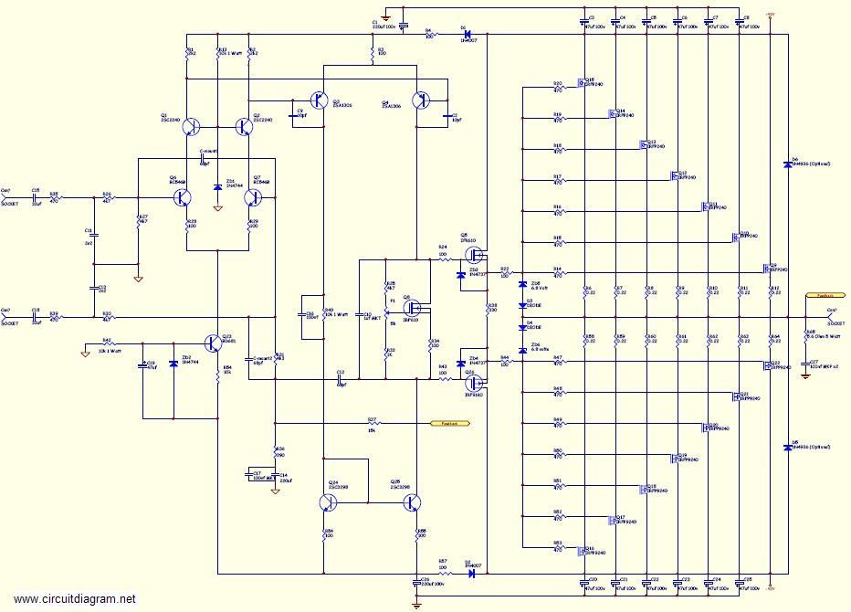 800watt Subwoofer Amplifier Circuit Diagram | Wiring Diagram