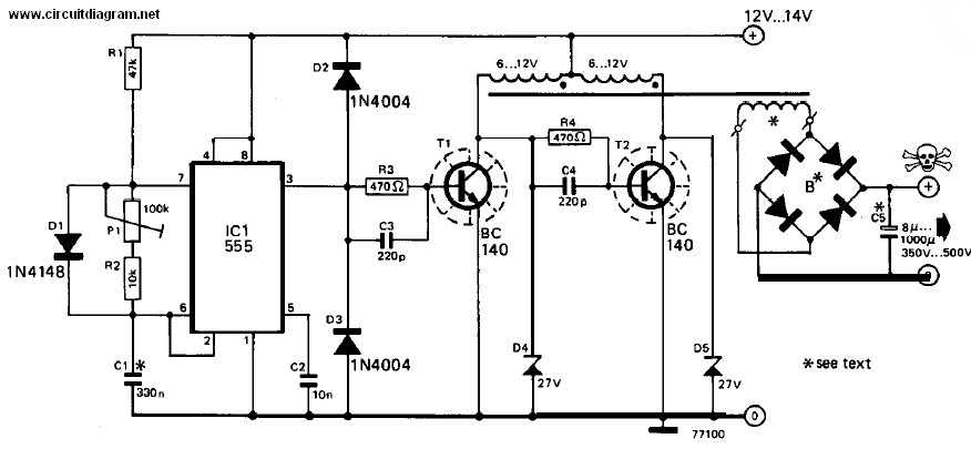 inverter 12v dc to 240v dc   electronic schematic diagram  electronic schematic diagram