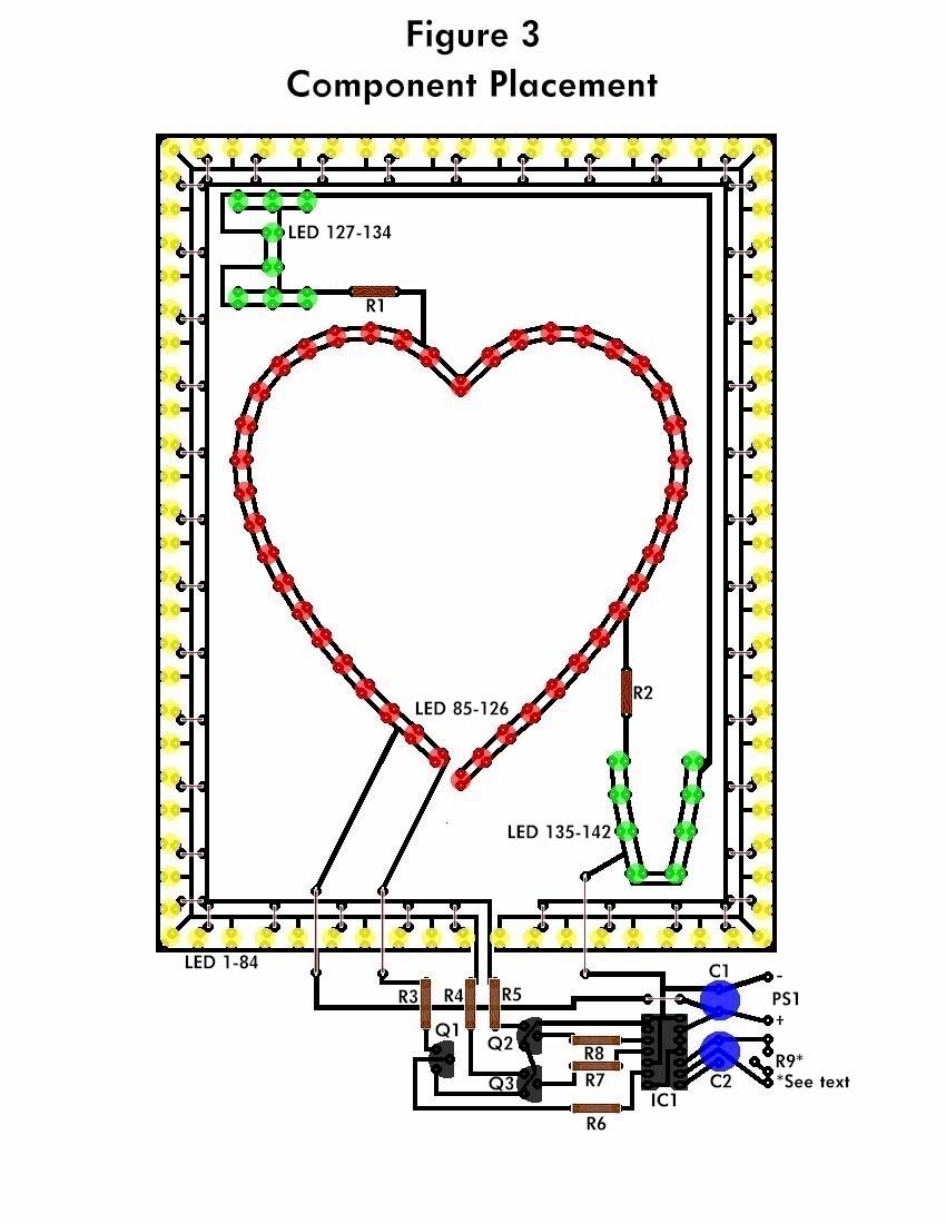 Led Flashing Heart Electronic Schematic Diagram Power 220v Low Current Flasher Circuit