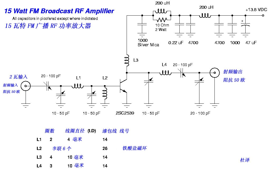 Excellent 15W Fm Rf Amplifier With 2Sc2539 Electronic Schematic Diagram Wiring Digital Resources Remcakbiperorg