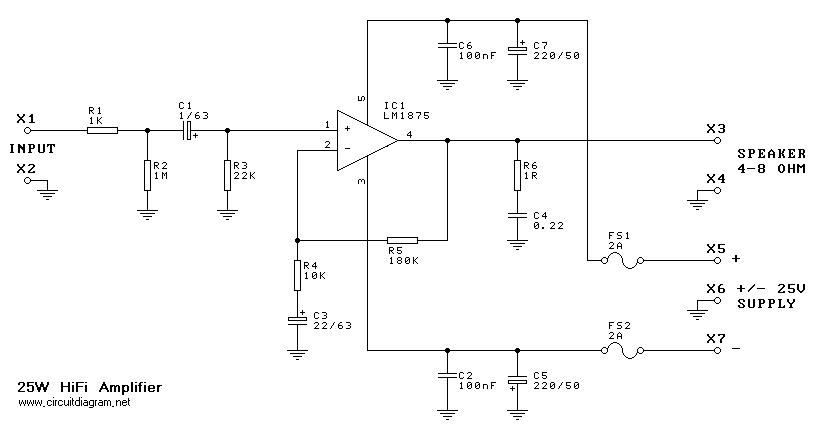 25W Hi-Fi Audio Amplifier based LM1875 | Electronic