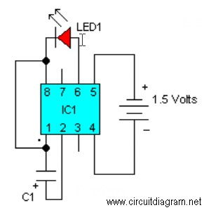 Electronic Flasher Circuit Diagram | Led Flasher With Lm3909 Electronic Schematic Diagram