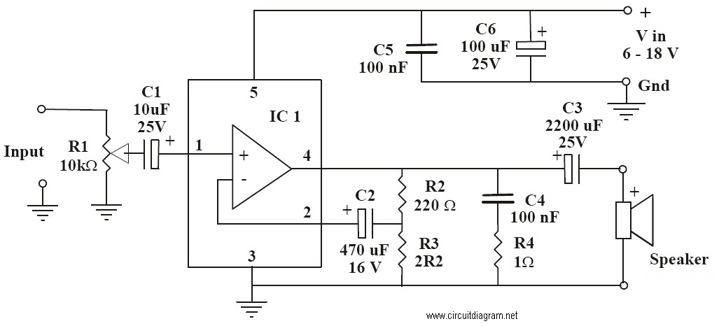 6 10w audio amplifier with ic tda2002 electronic schematic diagram6 10w Audio Amplifier With Ic Tda2002 Circuit Diagram #1