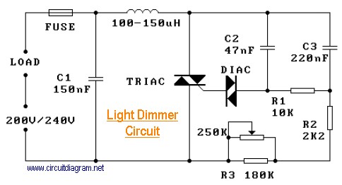 Surprising 220V Light Dimmer Electronic Schematic Diagram Wiring Cloud Hisonuggs Outletorg
