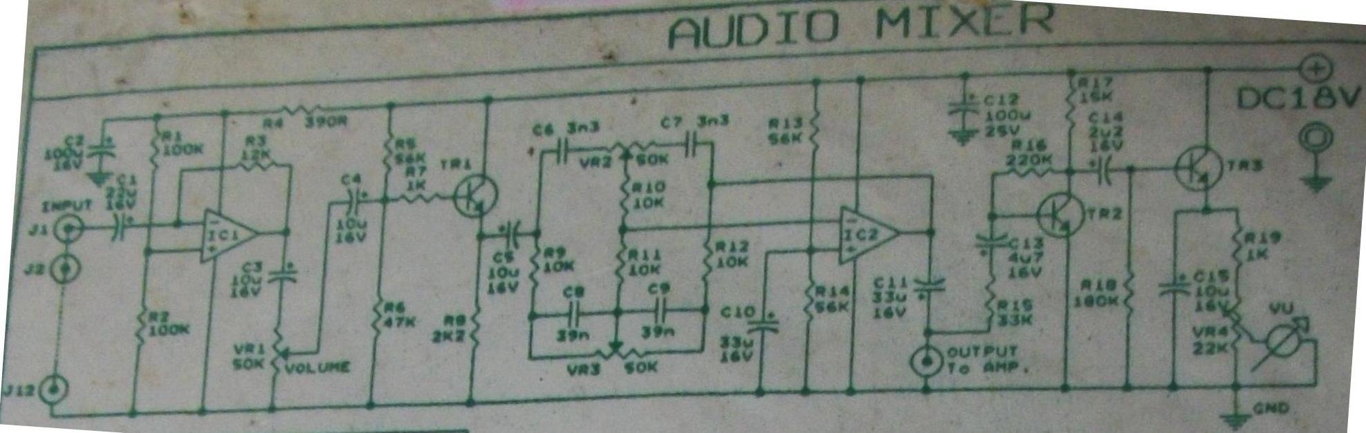 Pleasing Audio Mixer Vu Meter Electronic Schematic Diagram Wiring Digital Resources Hutpapmognl