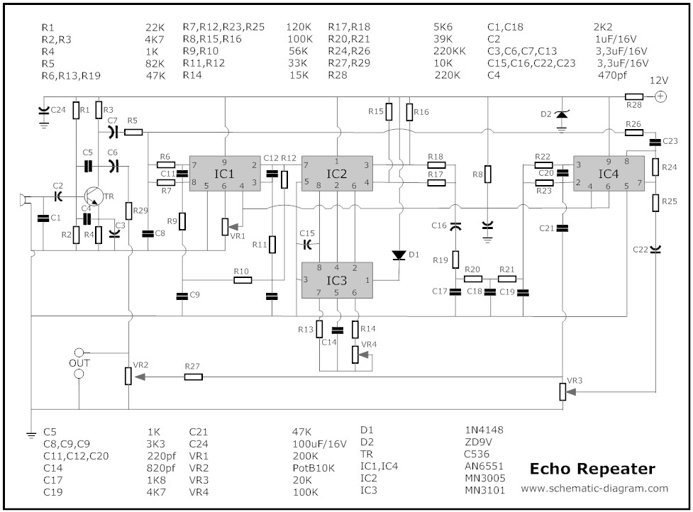 Echo Chamber | Electronic Schematic DiagramElectronic Schematic Diagram