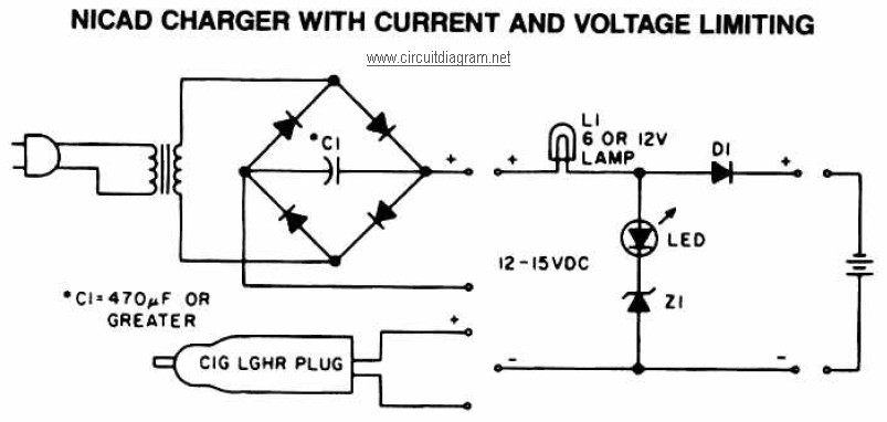 nicad battery charger with current and voltage limiting electronicnicad battery charger with current and voltage limiting electronic schematic diagram