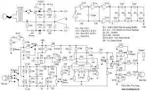 Tube Mic Pre-Amp | Electronic Schematic DiagramElectronic Schematic Diagram