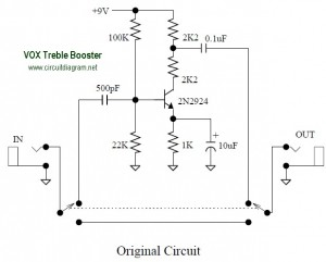 Remarkable Vox Treble Booster Effect Electronic Schematic Diagram Wiring Cloud Cosmuggs Outletorg