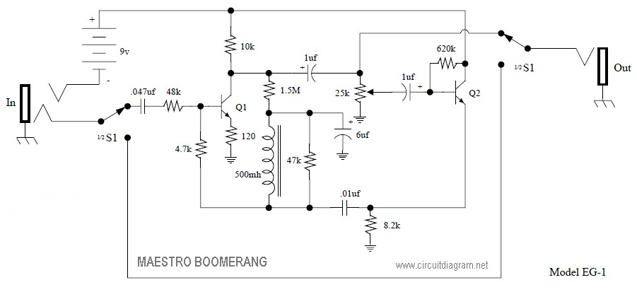 Maestro Boomerang Pedal | Electronic Schematic Diagram on dunlop wah schematic, fulltone wah schematic, vox ac15cc1 schematic, fixed wah pedal schematic, vox 847 wah mods, vox tone bender pedal schematic, vox v846 wah mod, vox ac30 schematic, vox 847 schematic, hiwatt wah schematic, cry baby vox schematic, vox pathfinder schematic, morley wah pedal schematic, vox tone bender reissue schematic,