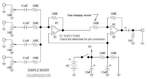 Phenomenal Simple Mixer 4 Input Electronic Schematic Diagram Wiring Database Denligelartorg