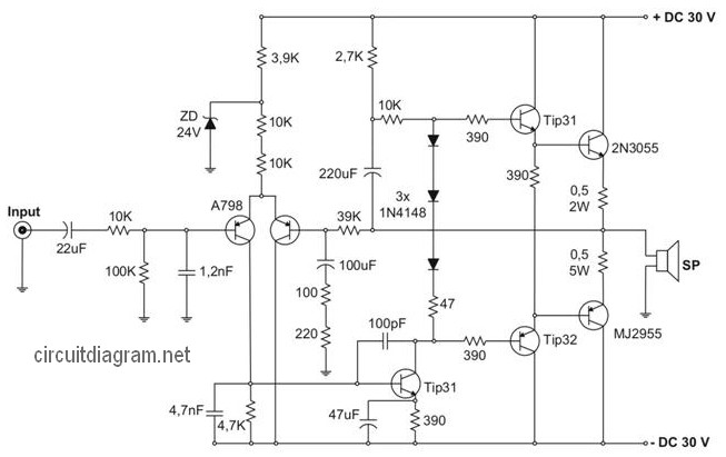 140w Power Amplifier Circuit Diagram - Wiring Diagram Content