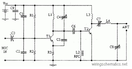 4 Watts FM transmitter Circuit Diagram – Electronic
