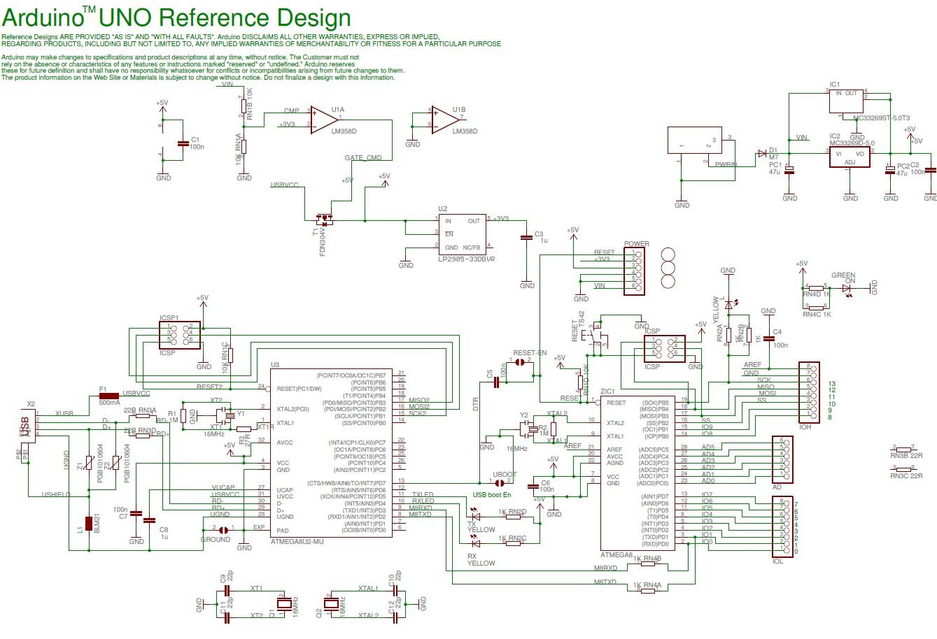 arduino uno schematic