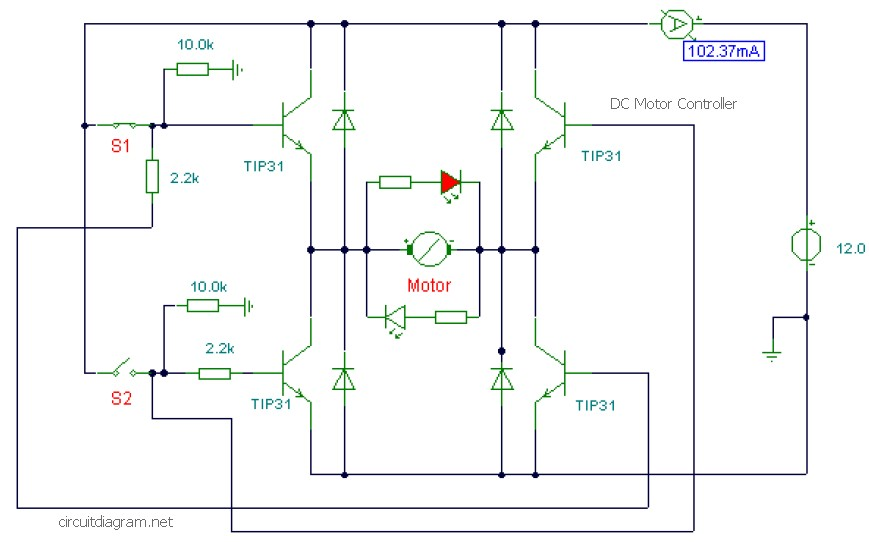 Dc Motor Controller Wiring Diagram from electronicscheme.net