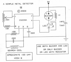 Fabulous Simple Metal Detector Based Cs209A Electronic Schematic Diagram Wiring Digital Resources Indicompassionincorg