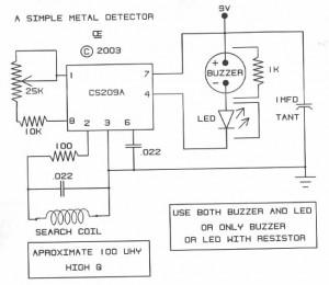 Super Simple Metal Detector Based Cs209A Electronic Schematic Diagram Wiring Digital Resources Almabapapkbiperorg