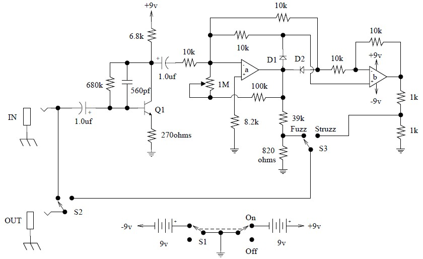 Octave fuzz guitar effect pedal – Electronic Schematic Diagram on phaser schematic, green ringer schematic, fulltone ultimate octave schematic, octave pedal schematic, octave schematic simple, flux capacitor schematic, octave guitar schematic, overdrive schematic, compressor schematic, transformer schematic,