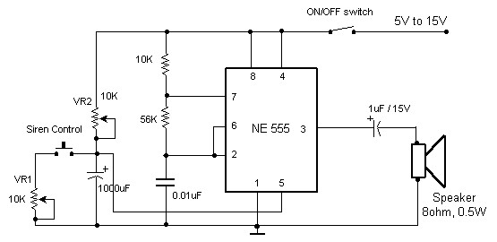 Awe Inspiring Electronic Siren Based Ne555 Electronic Schematic Diagram Wiring Digital Resources Antuskbiperorg
