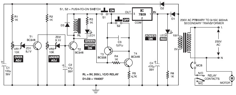 Starter Motor Wiring Diagram