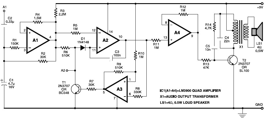 electronic horn circuit  u2013 electronic schematic diagram
