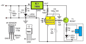 simple sensitive tester for infrared (ir) remote controlsimple sensitive tester for infrared remote control
