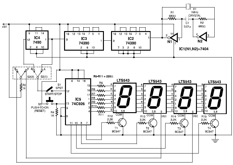 Remarkable Electronic Stopwatch Electronic Schematic Diagram Wiring Database Ittabxeroyuccorg