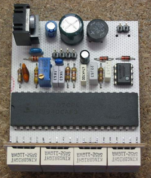 Led Battery Voltmeter Circuit Schematic Diagram