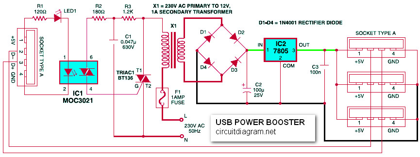 USB Power Booster for PC / Laptop | Electronic Schematic Diagram on usb power supply cable, usb port schematic, usb 5v power supply, usb interface schematic, usb pcb schematic, usb led schematic, usb pin out schematic, usb splitter schematic, usb headset schematic, usb oscilloscope schematic, usb port power supply, usb connector schematic, usb power supply component, usb adapter schematic, usb type schematic, usb card reader schematic, usb wiring schematic, usb solar charger circuit, usb power diagram, usb power supply specification,