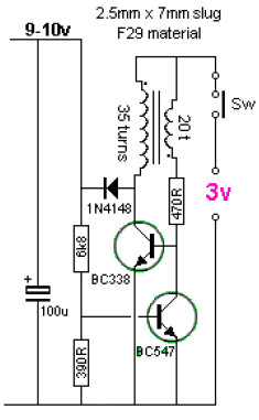 3v to 9v dc converter electronic schematic diagram3v to 9v dc to dc converter circuit