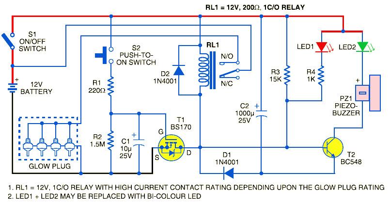Glow Plug Control Module Electronic Schematic Diagram