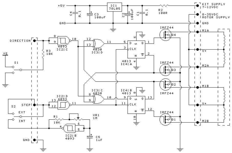 Admirable Unipolar Stepper Motor Driver Electronic Schematic Diagram Wiring 101 Capemaxxcnl