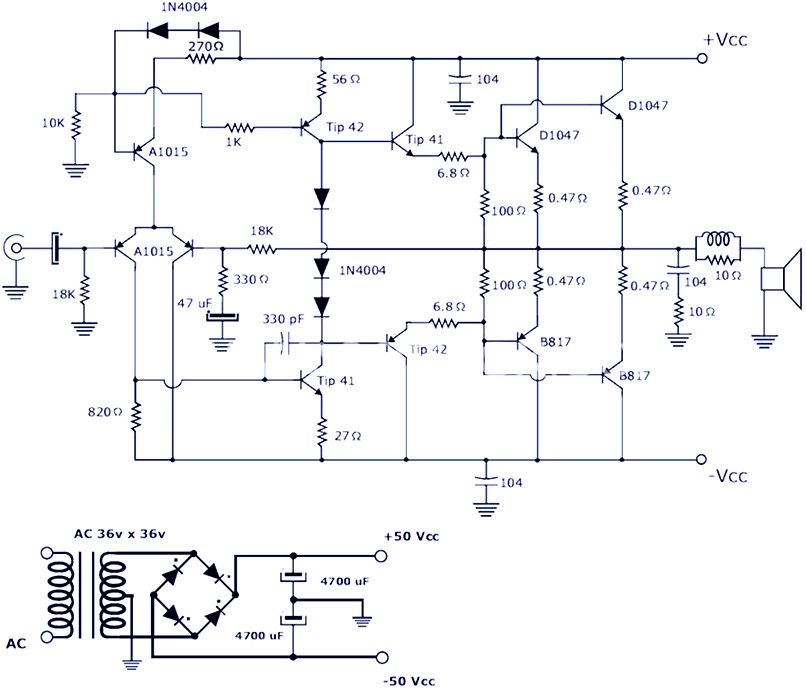 Tda2050 Subwoofer Amplifier Circuit Diagram - Wiring