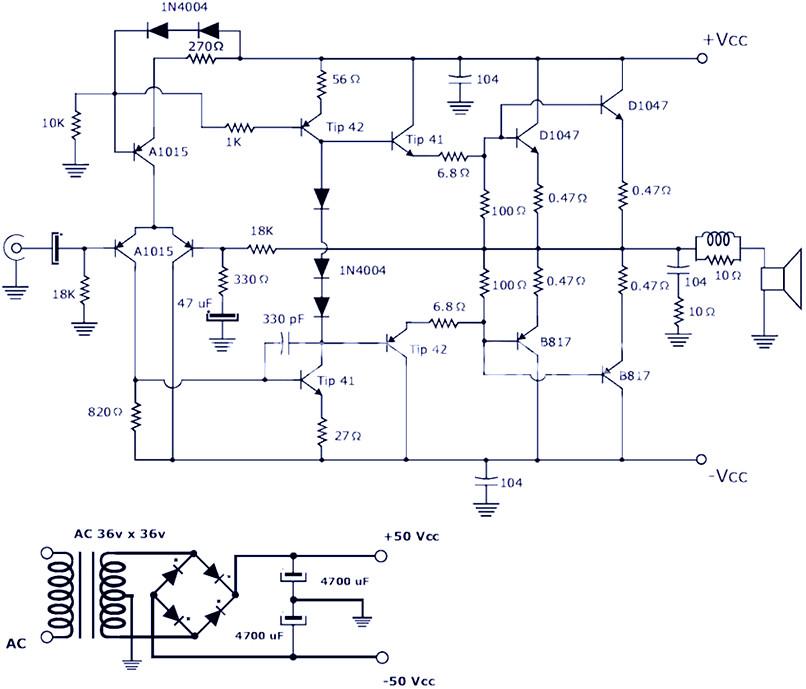 200w Power Amplifier Schematic Diagram Pcb Design Electronic Schematic Diagram