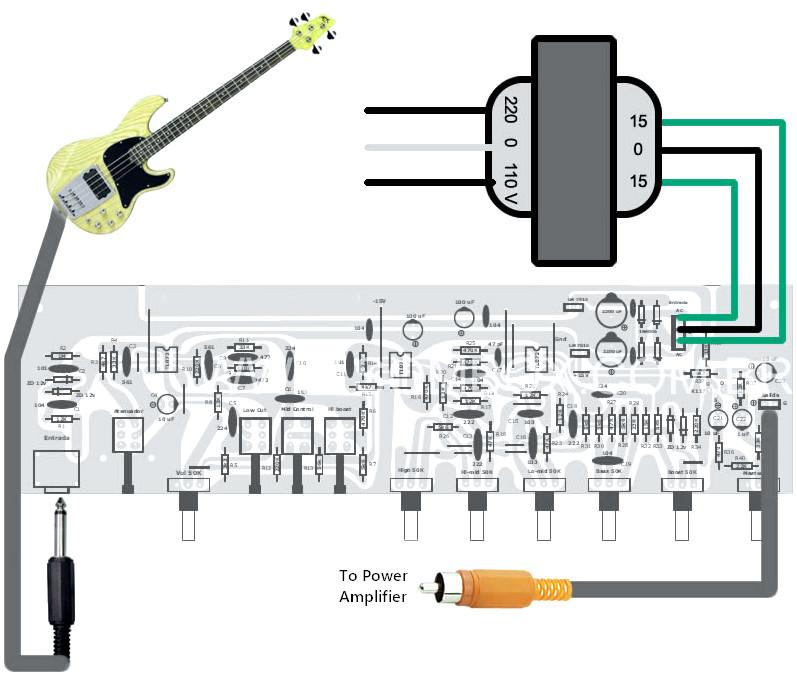 Bass Guitar Preamp Pedal Diy