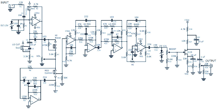 Preamp Schematic Picture - Your Wiring Diagram
