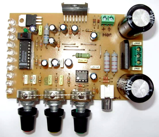 Circuit Diagram Of The Amplifier With Tone Controls The Circuit