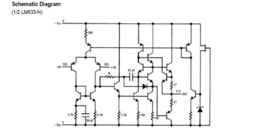 preamplifier and filter schematic with lm833 ic escaleras